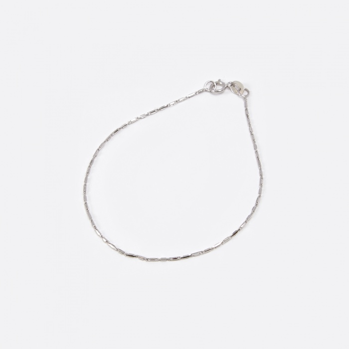 Lucy Folk Grovel Bracelet - 10K White Gold (Image 1)