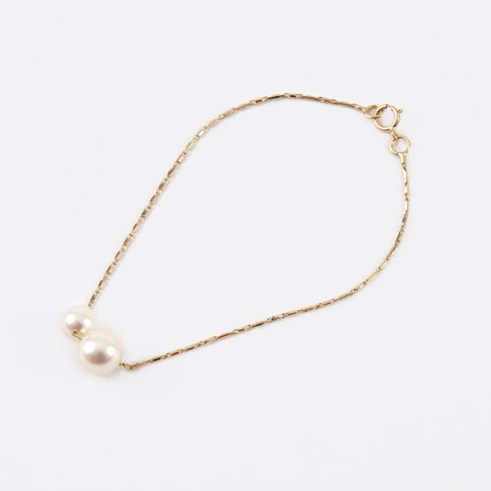 Lucy Folk Pearly Grovel Bracelet - 18K Yellow Gold/Fresh Water P (Image 1)