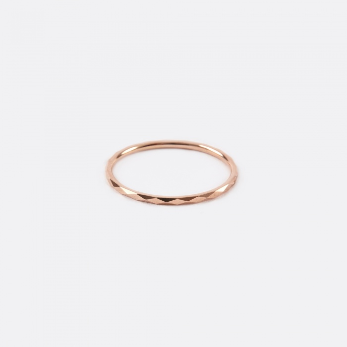 Lucy Folk Promise Ring D - 10K Rose Gold (Image 1)