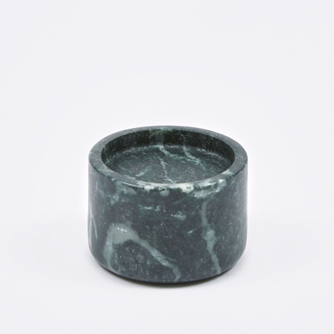 Candle Holder 'Lova' Marble Ø9x6cm - Green