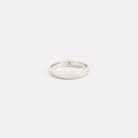 Classic Medium Band Ring - Polished Silver