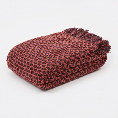 Throw 'Sirid' - Burgundy