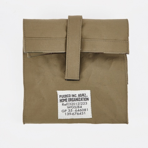 Laminated Fabric Lunch Box Bag - Olive