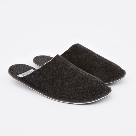 Dark Grey Wool Slipper - Large