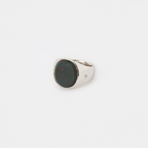 Oval Ring - Blood Stone
