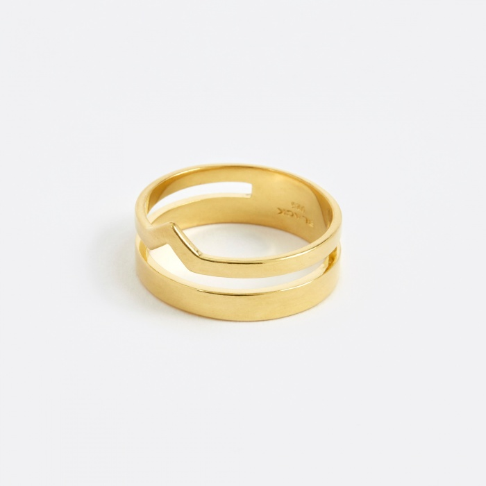 Maria Black Detour Ring - Gold (Image 1)