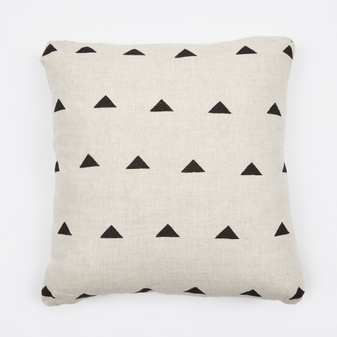 "Hannah Black Triangles Classic Pillow - 18""x18"