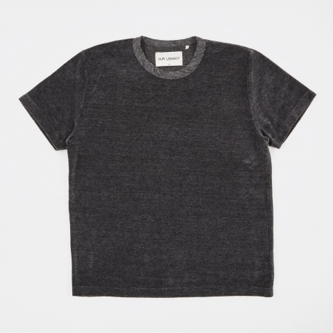 Perfect Tee - Grey Melange Velour