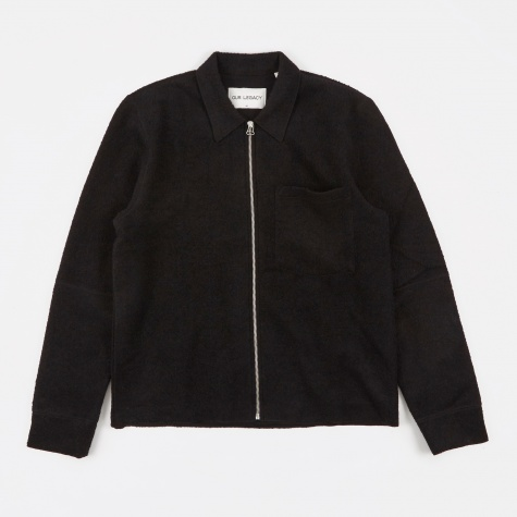 Raw Edge Blouson - Black Curl