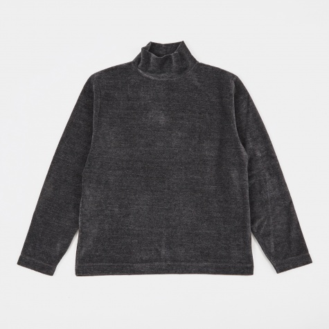 Turtleneck - Grey Melange Velour