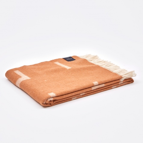 Iota Blanket - Cognac Brown