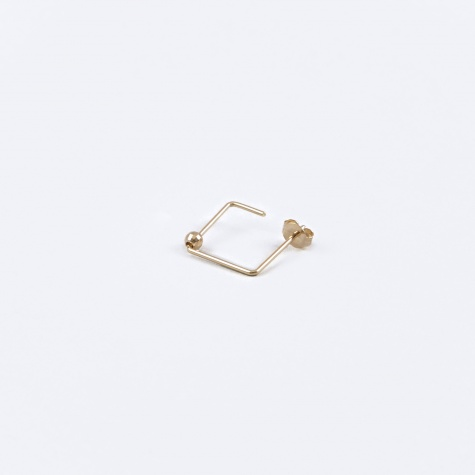 Square Earring - 18K Gold