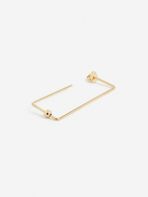 Long Rectangle Earring - 18K Gold