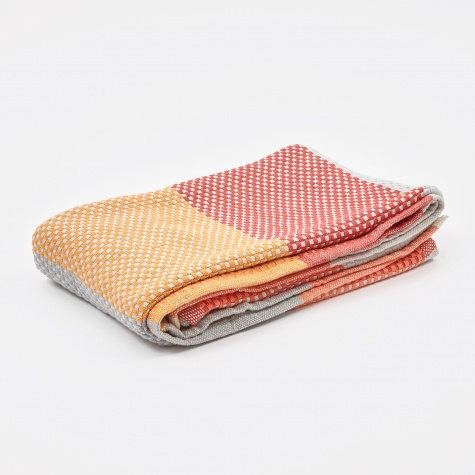 Loom Throw 180x130cm - Tangerine