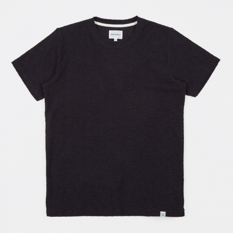 Niels Towelling SS T-Shirt - Elemental Navy