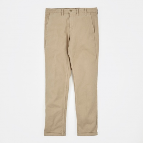 Aros Chino Textured Twill - True Khaki