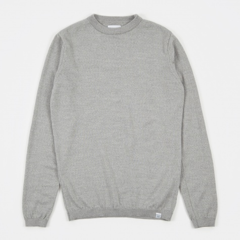 Sigfred Merino Knit - Light Grey Melange