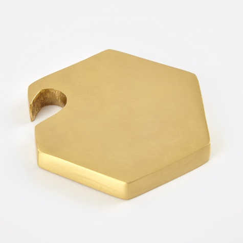 Hexagon Bottle Opener - Brass