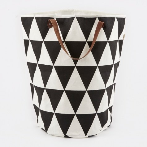 Triangle Laundry Basket - Black/White