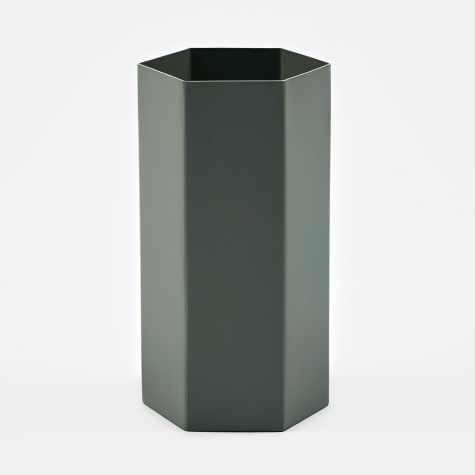 Hexagon Vase - Dusty Green