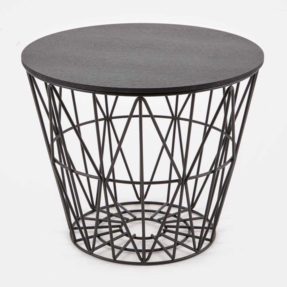 Ferm Living Wire Basket Table Top Black Small