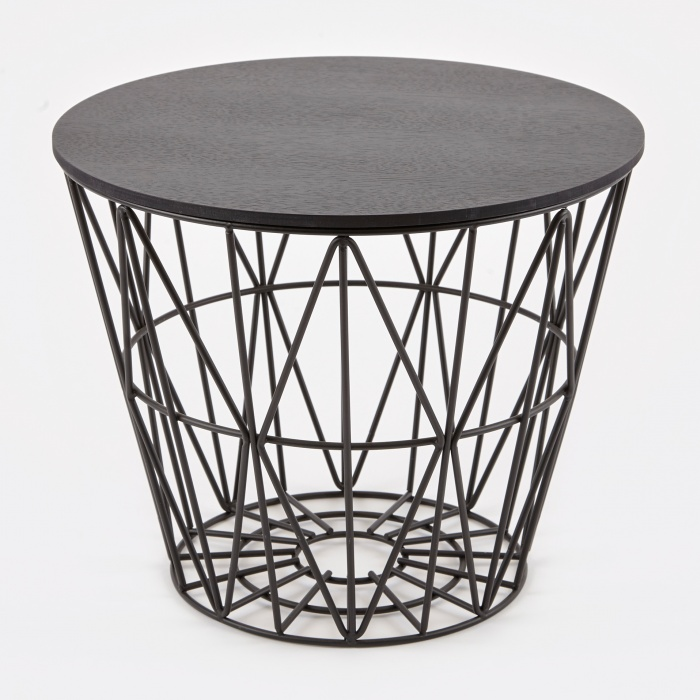 ferm living wire basket table top black small. Black Bedroom Furniture Sets. Home Design Ideas