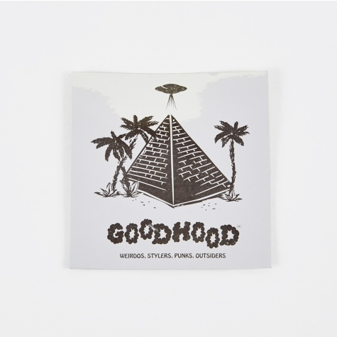 Pyramid Sticker - Silver