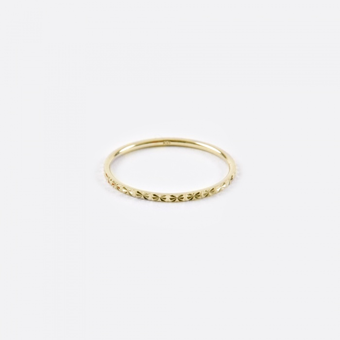 Lucy Folk Promise Ring - 10K Yellow Gold (Image 1)