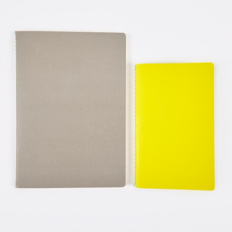 Study Notebooks M / L - Yellow / Light Grey