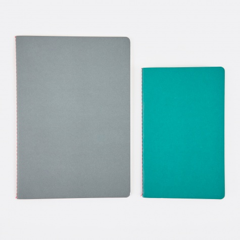 Study Notebooks M / L - Light Green / Grey