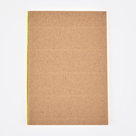 Corrugated Notebook A5 - Brown