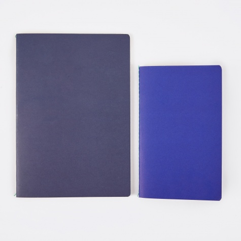 Study Notebooks M / L - Dark Blue / Bright Blue