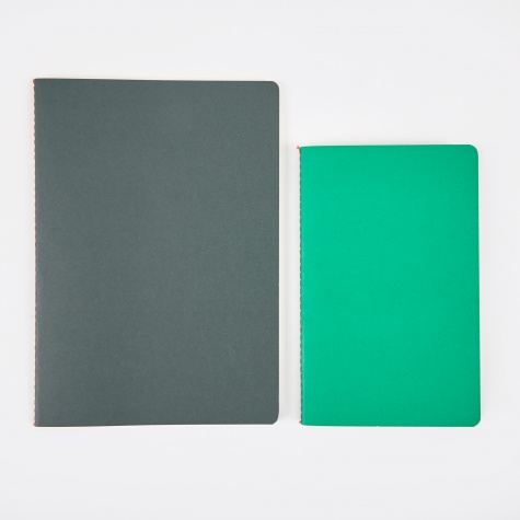 Study Notebooks M / L - Bright Green / Dark Green
