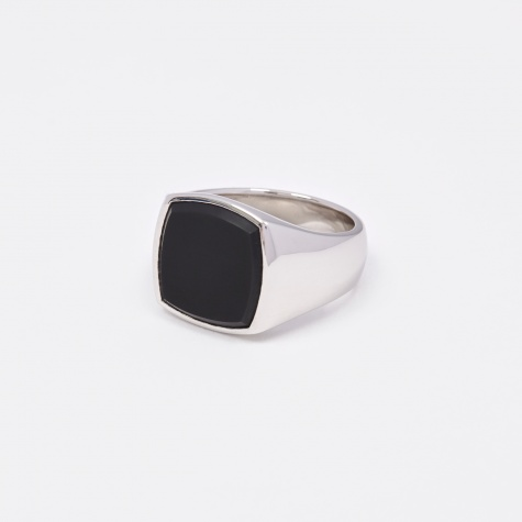Cushion Ring - Black Onyx