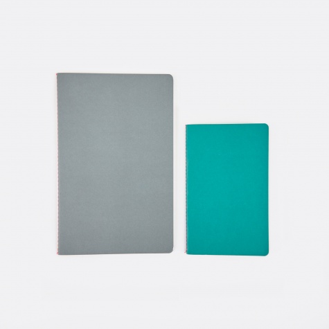 Study Notebooks S / M - Grey / Light Green