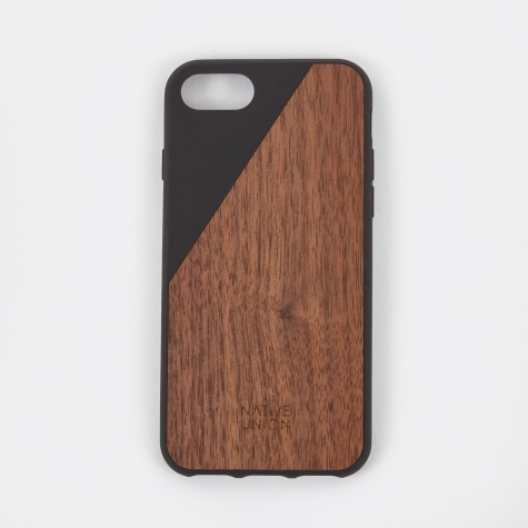 Clic Wooden iPhone 7 Case - Black