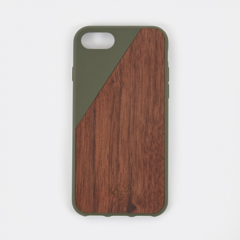 Clic Wooden iPhone 7 Case - Olive