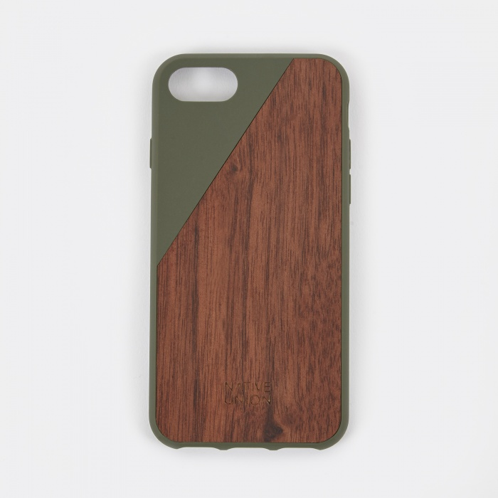 Native Union Clic Wooden iPhone 7 Case - Olive (Image 1)