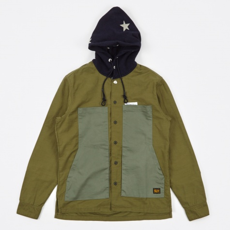 Hooded Shirt - Olive Drab