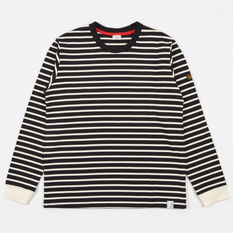 Borderz Striped T-Shirt - Black/Ivory