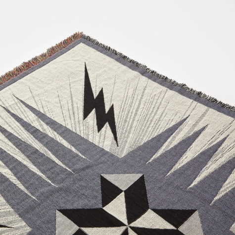 Pinwheel Starburst Throw - Denim & Grey