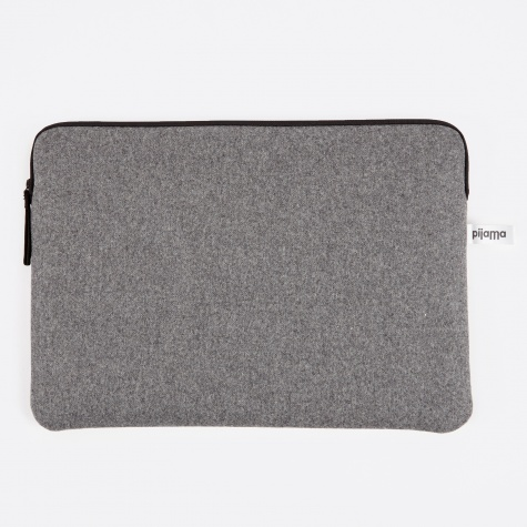 "Zip Case for Macbook 15"" - Grey Flanel"