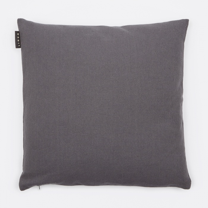 Linum Pepper Cushion 50x50cm - Granite Grey (Image 1)
