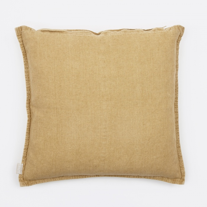 Linum West Cushion 50x50cm - Straw Yellow (Image 1)