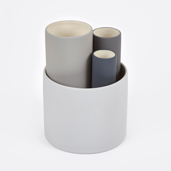 Ferm Living Collect Vases (Set Of 4) - Grey (Image 1)