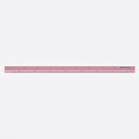 Penco Drafting Scale Ruler - Pink