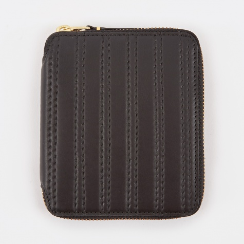 Comme des Garcons Wallet Embossed Stitch M - Black (SA2100ES)