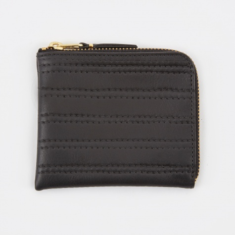 Comme des Garcons Wallet Embossed Stitch S - Black (SA3100ES)