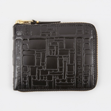 Comme des Garcons Wallet Embossed Logotype XS - Black (SA7100EL)