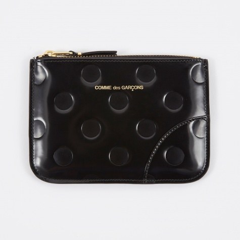 Comme des Garcons Wallet Embossed Dots (SA8100NE) - Black